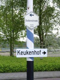 Anwb and keukenhof signpost