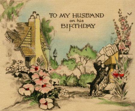 Happy Birthday, My Darling. Birthday card husband. For my darling Patrick